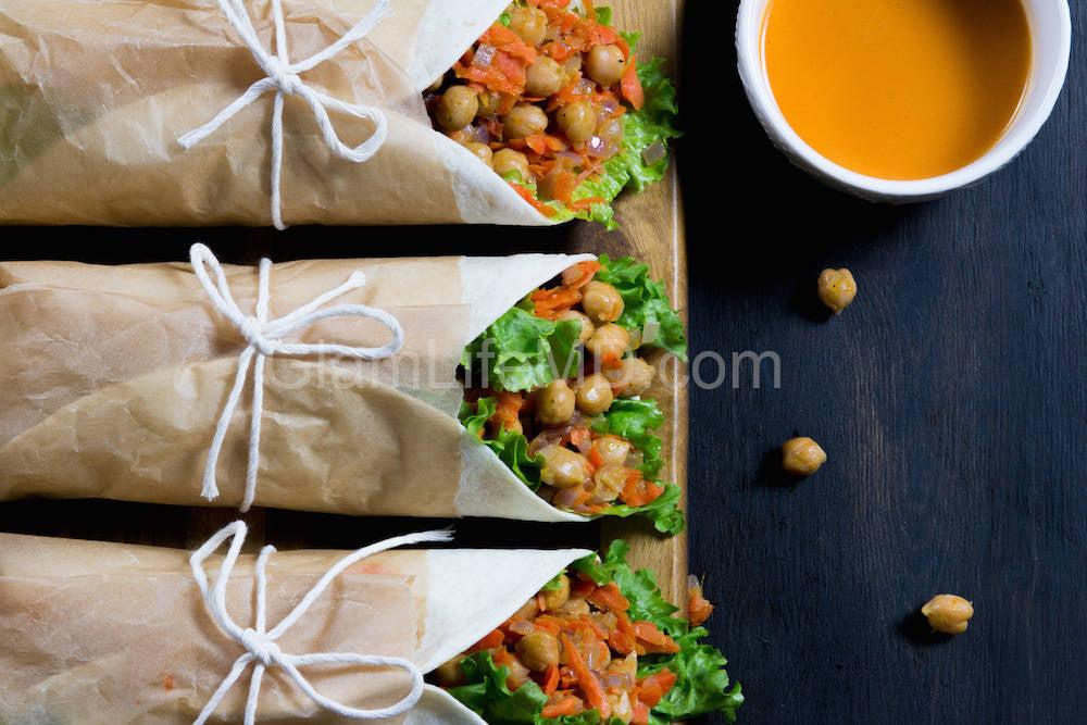 Buffalo Chickpea Wraps | Best Lunch Recipes