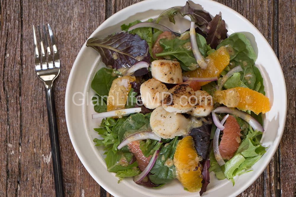 Citrus Salad with Seared Scallops | Vegetarian Salad Recipes