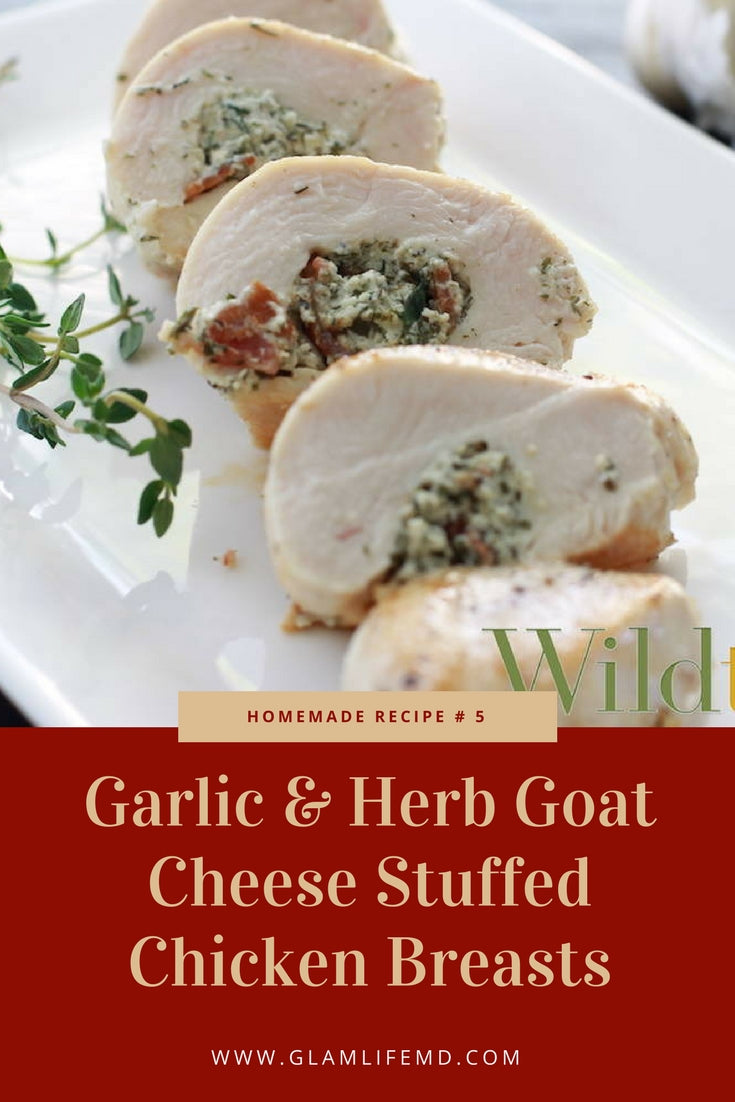 Garlic & Herb Goat Cheese Stuffed Chicken Breasts | Recipes With Chicken