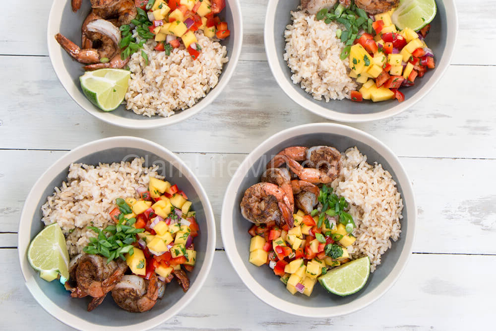 Jamaican Jerk Shrimp Bowls | Easy Lunch Recipes Healthy