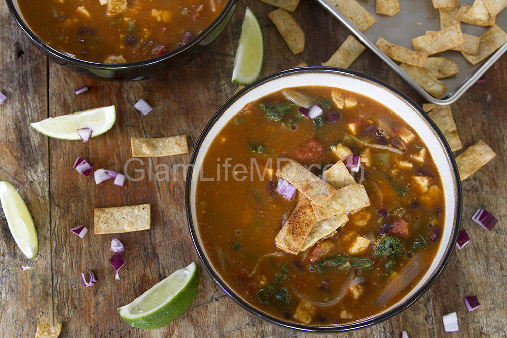 Kale and Tempeh Tortilla Soup | Lunch And Dinner Recipes