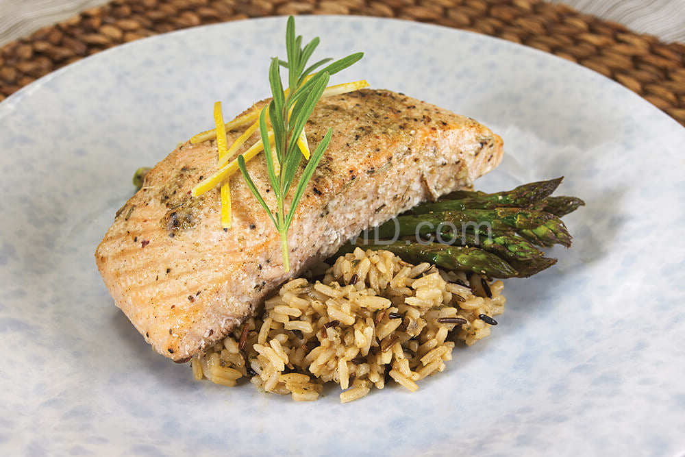 Oven Roasted Lemon Rosemary Salmon | Healthy Easy Lunch Recipes