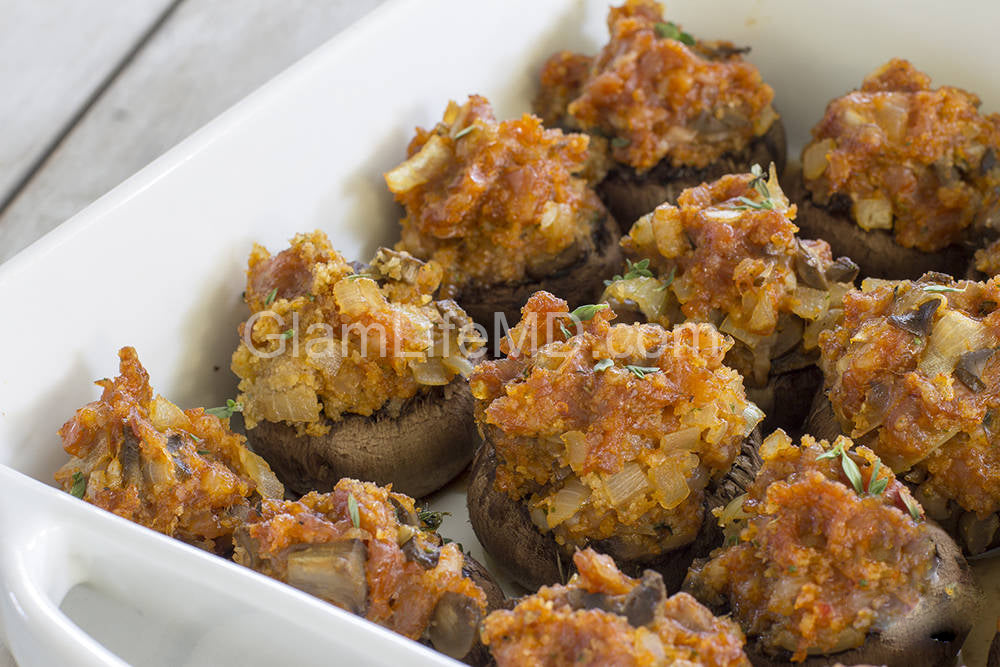 Sausage Stuffed Mushrooms | Fall Appetizers Recipes