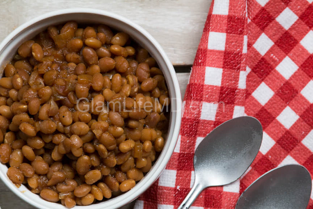Slow Cooker Vegan BBQ Baked Beans | Recipes For Sides Dishes