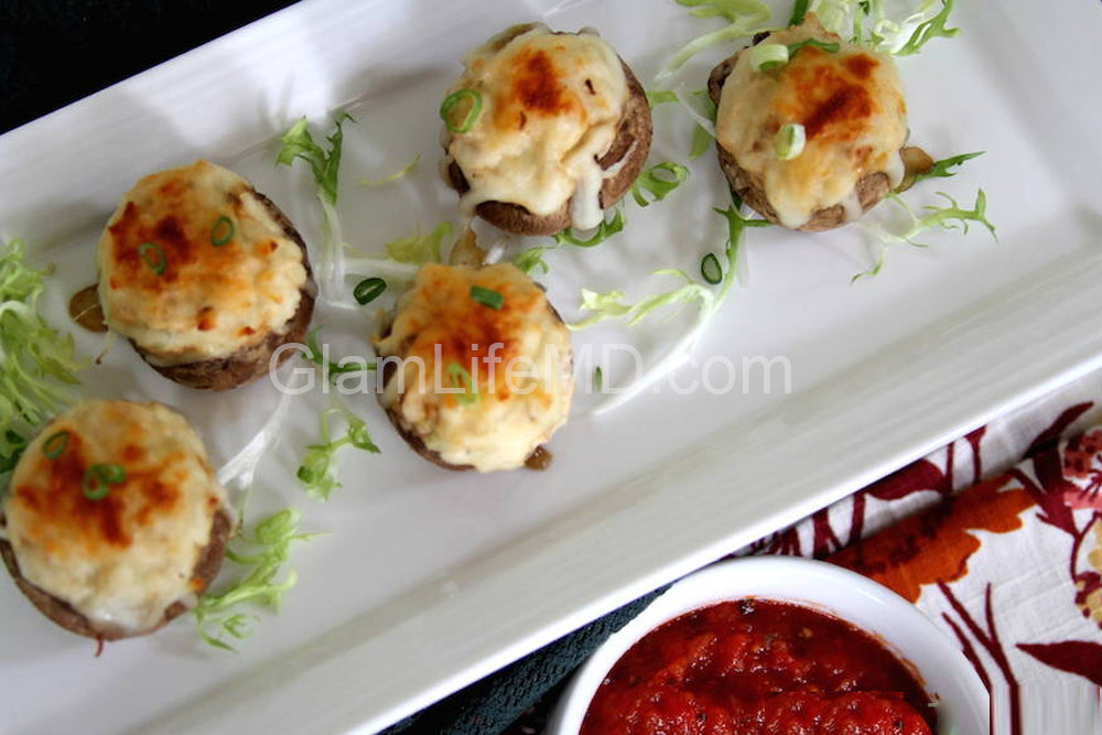 Smoked Cheddar and Tomato Stuffed Mushrooms | Tasty Recipes Appetizers