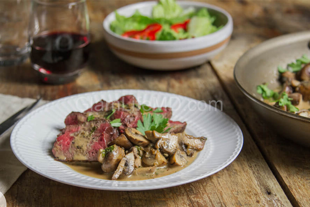 Steak with Mushroom Sauce | Beef Dinner Recipes