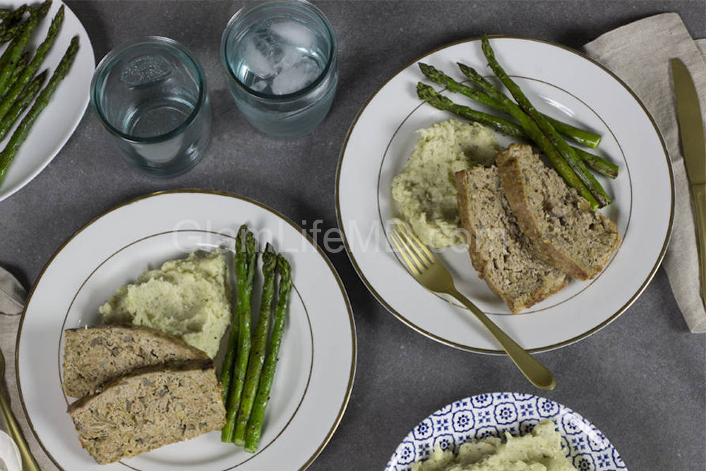 Turkey Meatloaf with Parsnip Puree & Asparagus | Yummy Dinner Recipes