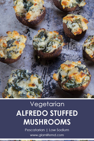 Alfredo Stuffed Mushrooms | Tasty Recipes Appetizers | Glamlifemd