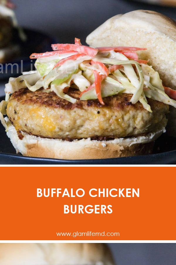 Buffalo Chicken Burgers | Chicken Breast Lunch Recipes