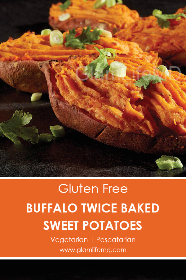 Buffalo Twice Baked Sweet Potatoes | Simple Sides