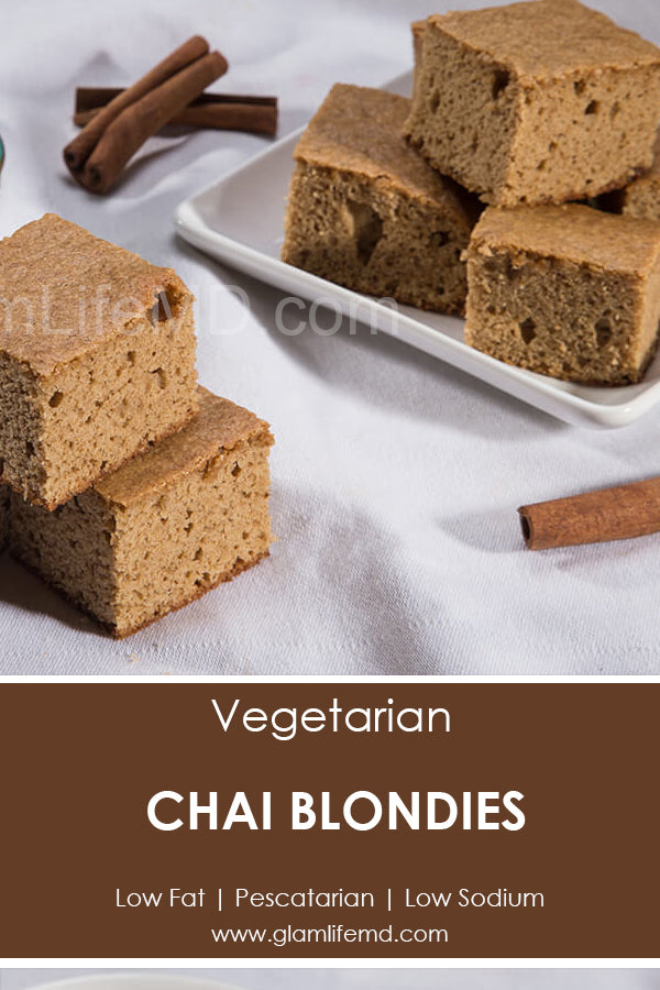 Chai Blondies | Easy Simple Desserts Recipes