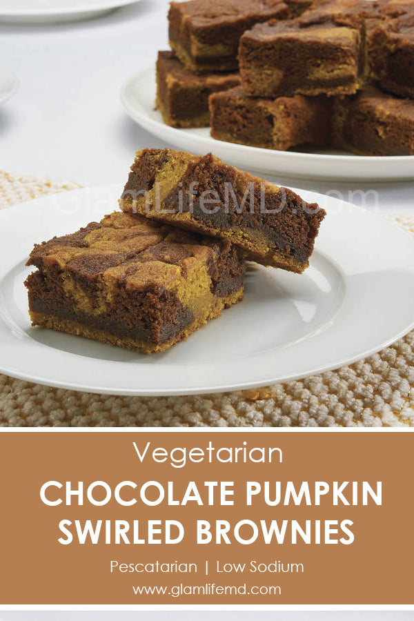Chocolate Pumpkin Swirled Brownies | Desserts Recipes For Two