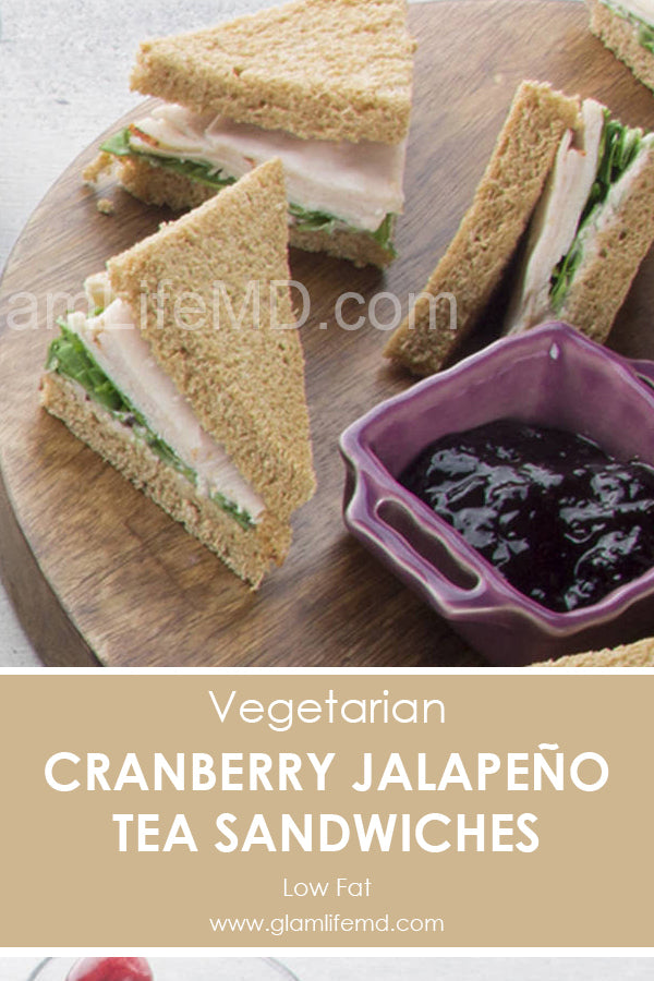 Cranberry Jalapeno Tea Sandwiches | Halloween Recipes Aappetizers