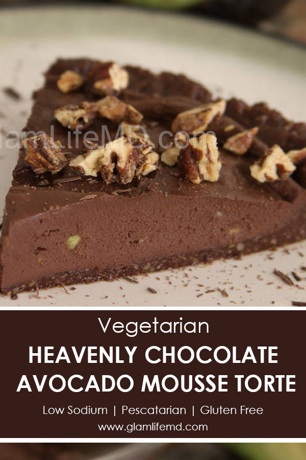 Heavenly Chocolate Avocado Mousse Torte | Recipes Baking Desserts