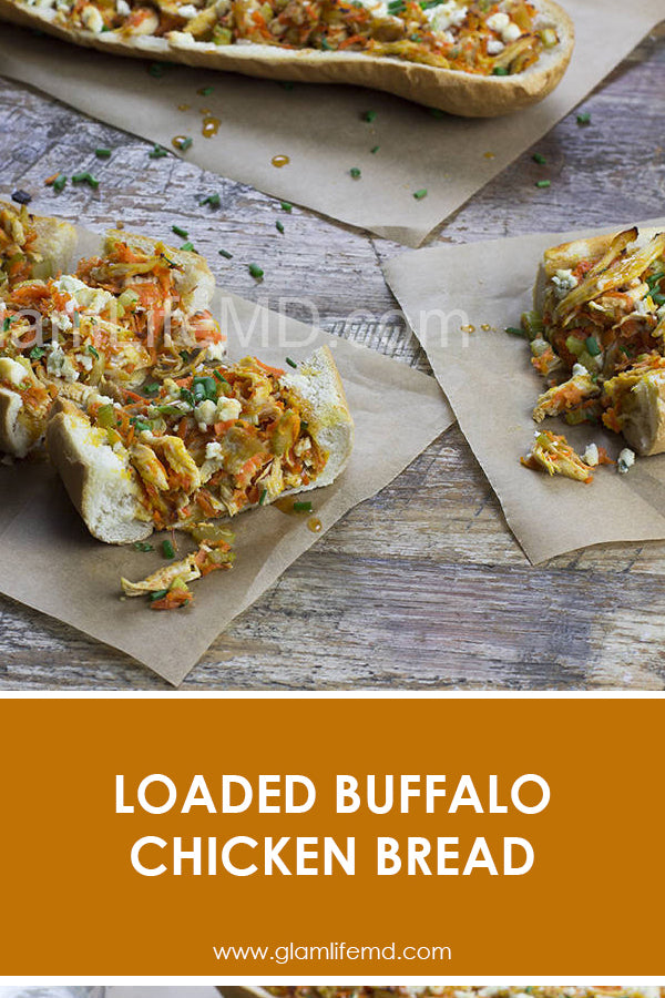 Loaded Buffalo Chicken Bread | Tasty Recipes Appetizers