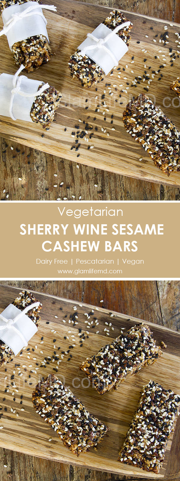 Sherry Wine Sesame Cashew Bars | Sweets Recipes