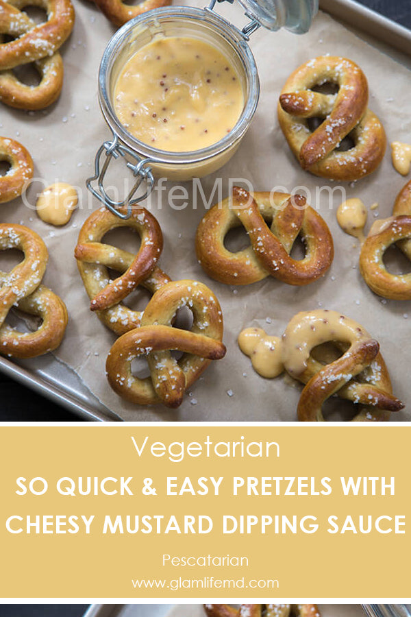 Easy Pretzels with Cheesy Mustard Dipping Sauce | Appetizer Recipes Party