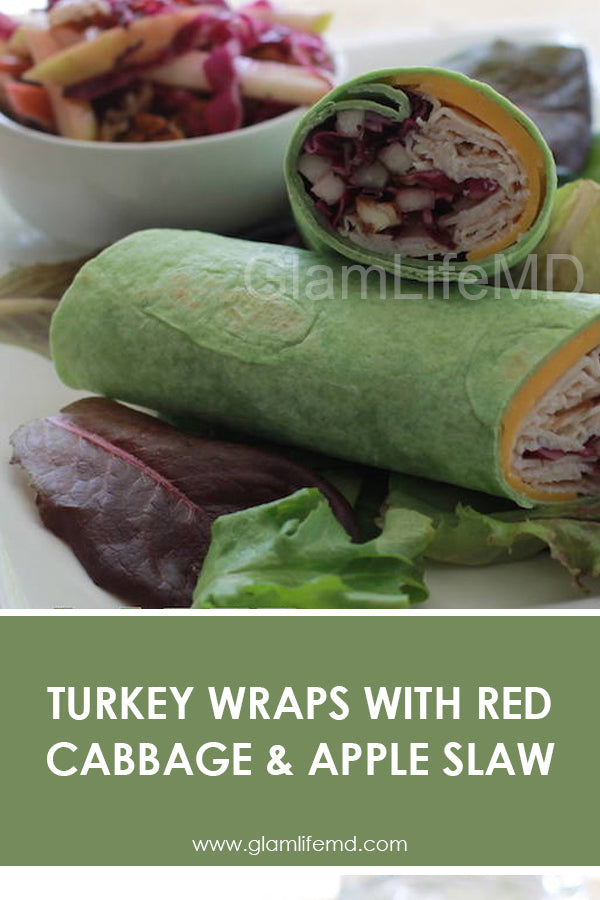 Turkey Wraps with Red Cabbage & Apple Slaw | Recipes Healthy Lunch