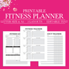 Fitness Journal, Fitness Printable, Fitness Planner PDF, Fitness Log, Fitness Tracker, Workout Planner, Letter Size Planner Printable, A4