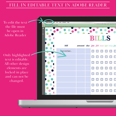 Bill Organizer, Bill Planner, Bill Pay Tracker, Bill Pay Organizer, Monthly Bill Tracker Printable, Personal Finance, Letter Size, A4