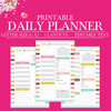 Daily Planner, Daily Schedule Planner, Daily Planner Printable Pages, Daily Planner Inserts, Day Planner, Half Letter Size, A5