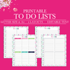Printable To Do List, Daily To Do List Printable, Weekly To Do List Planner Insert, Project To Do List,To Do Planner, Letter Size Planner A4