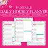 Hourly Schedule, Printable Hourly Planner, Daily Hourly Planner Printable, Daily Planner Inserts, Daily Schedule Planner,Letter Size,A4 Size