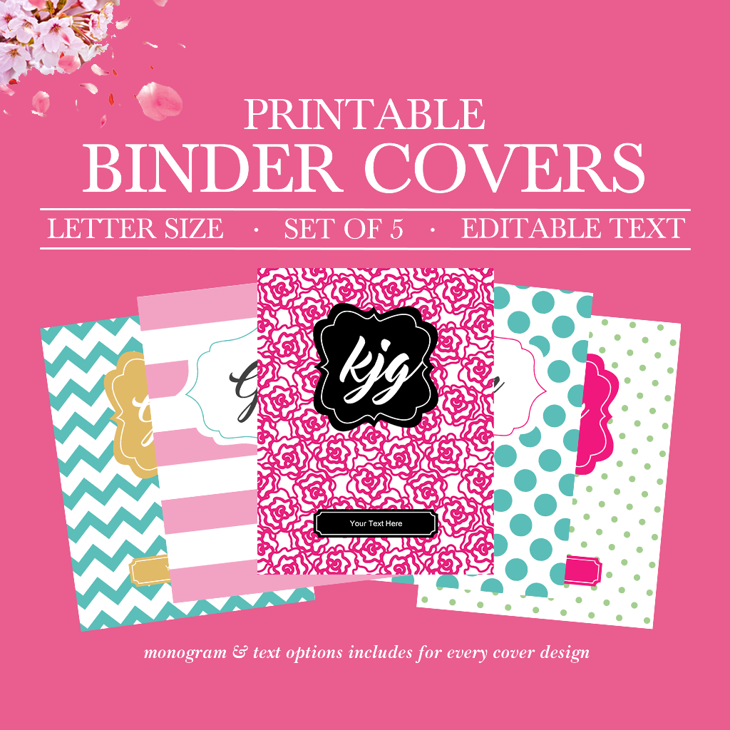 image about Binder Cover Printable identify Binder Handles Printable, University student Printable Binder Handles and Spines, Trainer Binder Go over, Binder Backbone, College or university Binder Protect,Monogram Binder