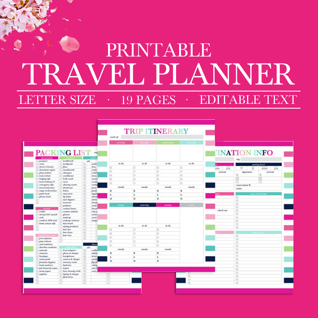 picture regarding Travel Planner Printable referred to as Printable Drive Planner, Holiday Planner Package, Getaway Planner, Push Planner Package, Generate Itinerary, Packing Listing, Push Printable, Magazine-