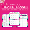Printable Travel Planner, Vacation Planner Kit, Trip Planner, Travel Planner Kit, Travel Itinerary, Packing List, Travel Printable, Journal-