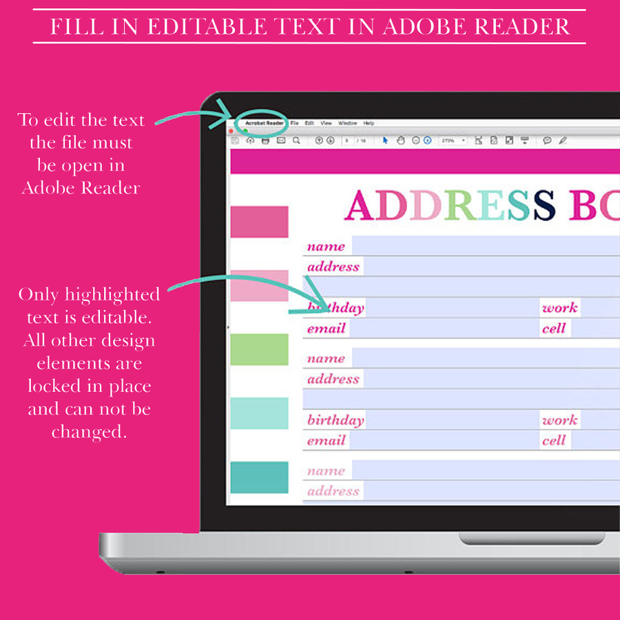 Printable Address Book