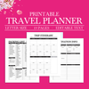 Printable Travel Planner, Vacation Planner Kit, Trip Planner, Travel Planner Kit, Travel Itinerary, Packing List, Travel Printable, Journal