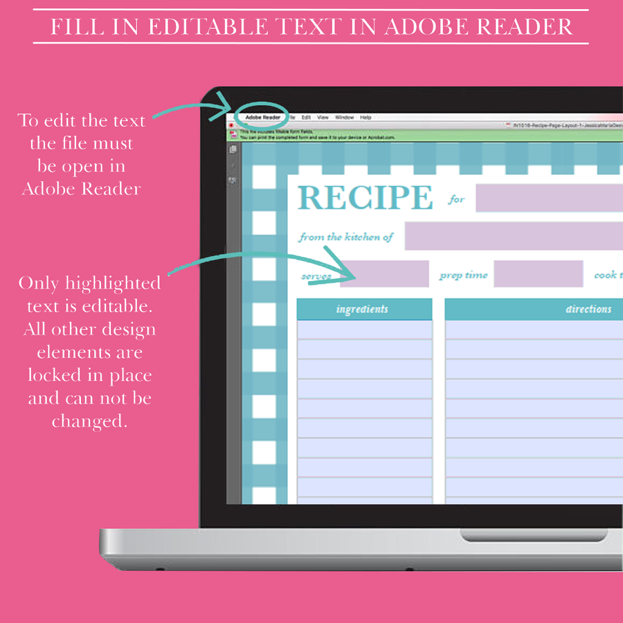 Recipe Binder-GlamLife MD