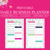 Daily Business Planner, Small Business Planner, Daily Schedule Planner, Daily Planner Printable Pages, Planner Inserts, HalfLetter Size, A5