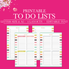 Printable To Do List, Daily To Do List Printable, Weekly To Do List Planner Insert, Project To Do List, To Do Planner, Half Size Planner, A5