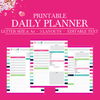 Daily Planner, Daily Schedule Planner, Daily Planner Printable Pages, Daily Planner Inserts, Day Planner, A4 and Letter size