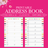 Address Book Printable, Contact Page, Address Page, Contacts Printable, Contact List, Printable Planner Inserts, Half Letter , A5 Size