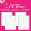 Notes Printable Page, Planner Page Notes, Notes Planner Insert, Notes Page Printable Planner Inserts,Printable Notepaper,Letter Size Planner,A4 size