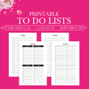 Daily To Do List Printable, Weekly To Do List Planner Insert, Printable To Do List, Project To Do List, To Do Planner, Half Size Planner, A5