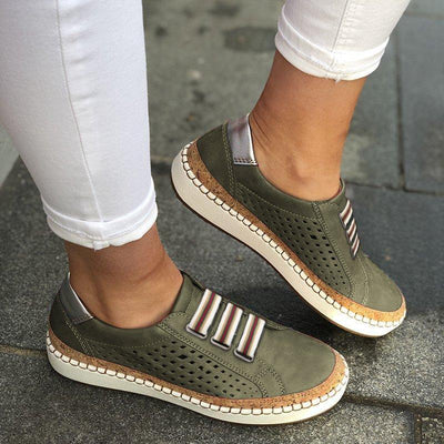 Comfortable Flat Bottom Breathable Shoes Green
