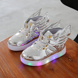 2017 Autumn Kids LED luminous Sneakers Glowing Brand Child Breathable Light Flashing Baby Boys Casual Shoes for girl size 21~30 - shoewho