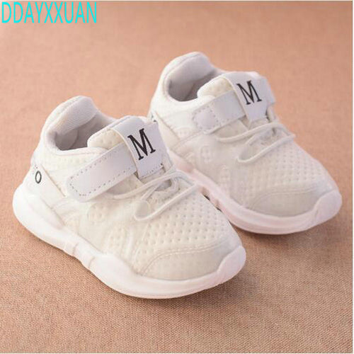 2017 autumn new fashionable net breathable pink leisure sports running shoes for girls white shoes for boys brand kids shoes - shoewho