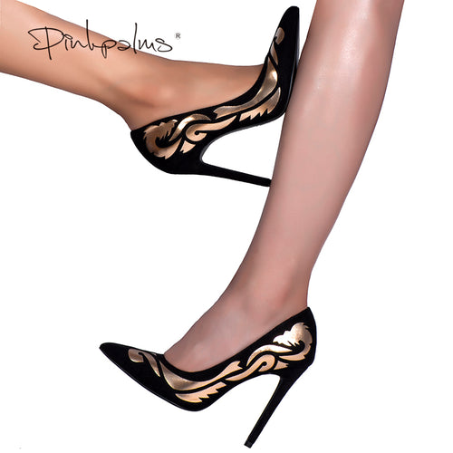 Pink Palms sexy women summer pumps shoes autumn high hee