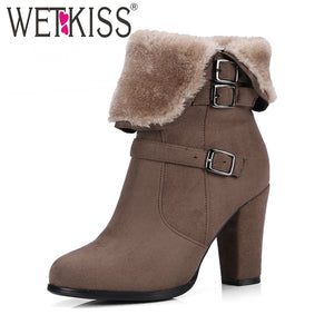 Thick Plush Snow Ankle Boots Warm In Winter