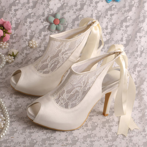 Customized Design Platform Ivory Shoes for Wedding Pumps - shoewho