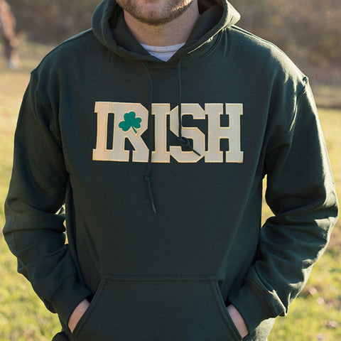 Hooded Sweatshirt - Forest Green with Gold Lettering