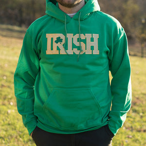 Hooded Sweatshirt - Kelly Green with Gold Lettering