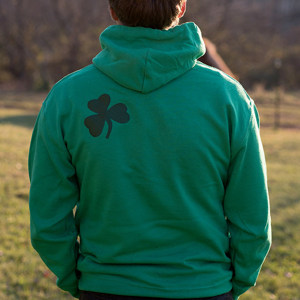 Hooded Sweatshirt - Kelly Green with Green Lettering