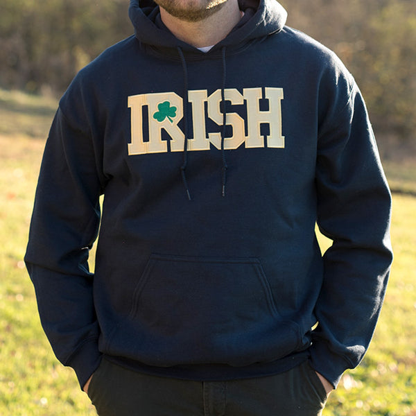 Hooded Sweatshirt - Navy with Gold Lettering