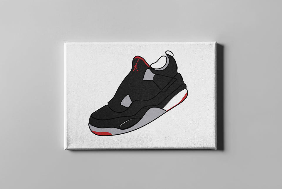 "Air Jordan 4 ""Bred"" Canvas"
